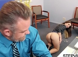 Stepdaughter Bambi Brooks receives group-fucked
